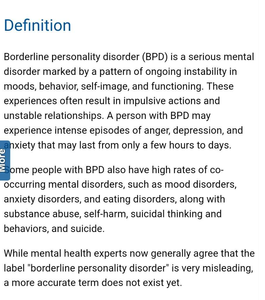 borderline personality disorder | wiki | the monsters within us amino
