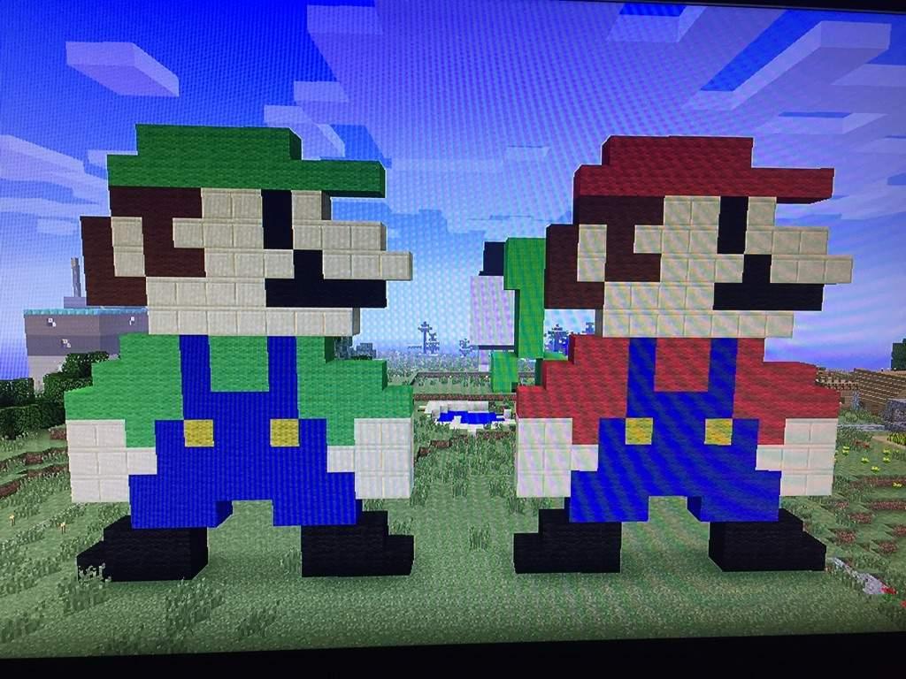 Minecraft Pixel Art Mario Amino