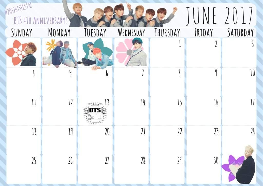 Calendar Girl June Read Free : June calendar for bts themed planner army s amino