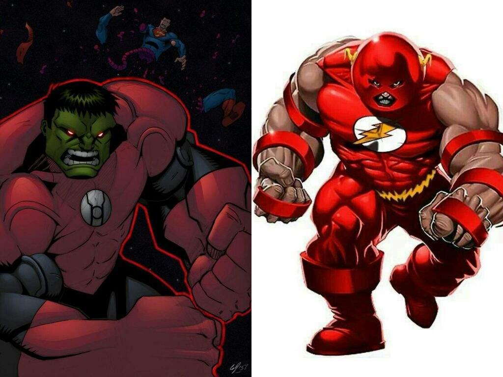 Red Hulk Vs Trion Juggernaut: Unstoppable Pure Brute Strength