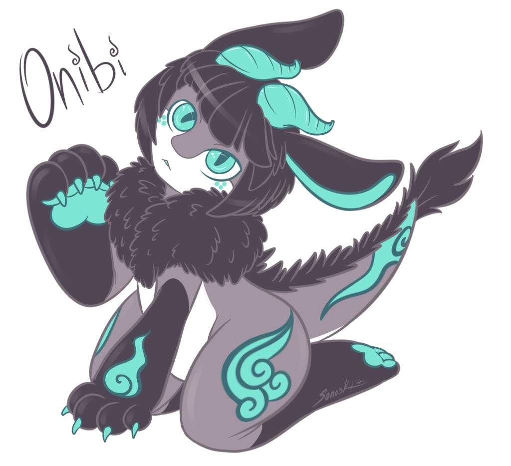 Onibi dragon rabbit adorable art amino amino another take on my newest oc thecheapjerseys Gallery