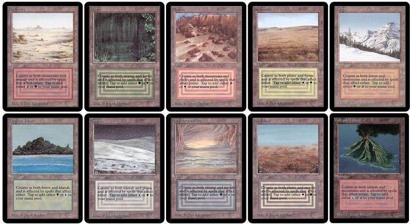 Untapped Duals Without A Basic Land Type MTG Amino