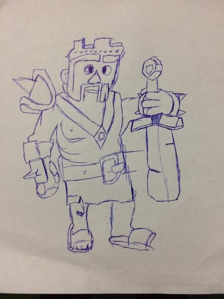 desenhei o rei barbaro não ficou tão bom mais ficou legal clash