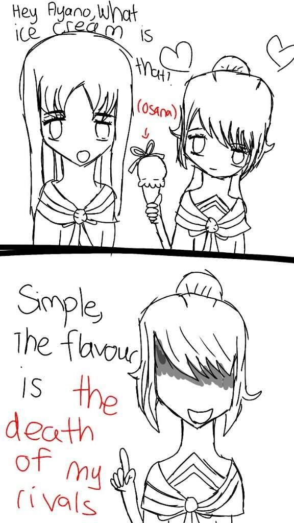 Hey,Ayano- Sama What's the flavour?(Comic)   Yandere