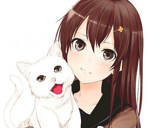 Девушки аниме с коричневыми волосами