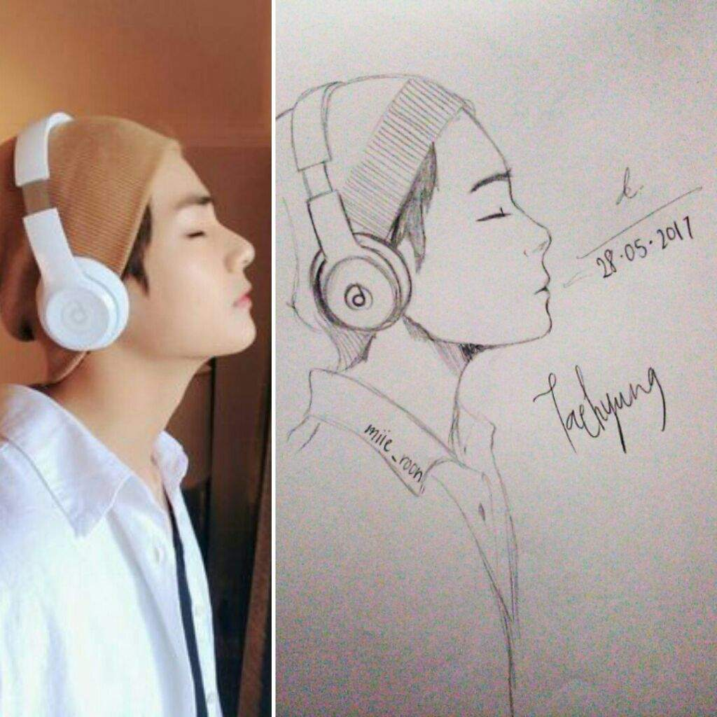 Taehyung fanart sketch taehyung sketch anime drawing