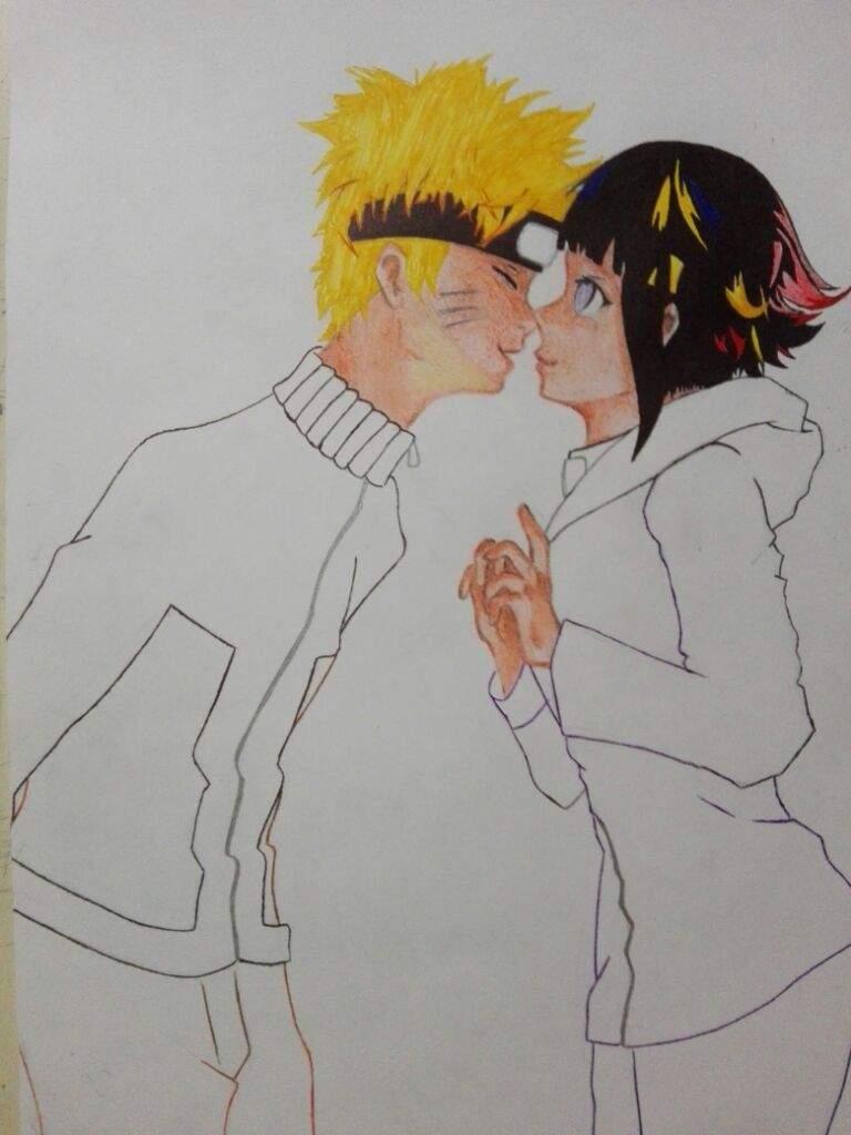Dibujo de Naruto y Hinata  Naruamino Amino