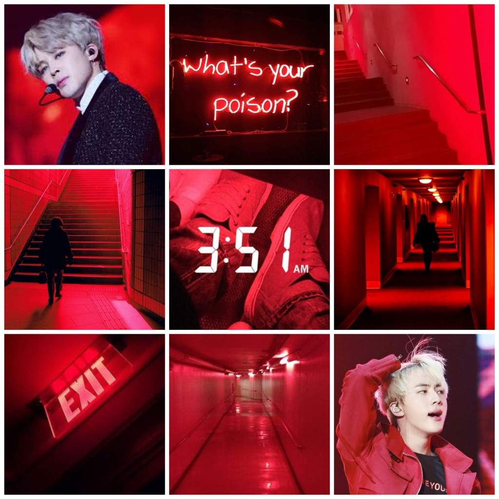 Pink, Blue, and red mood boards ^-^ | BTS ARMY\'s Moodboards Amino