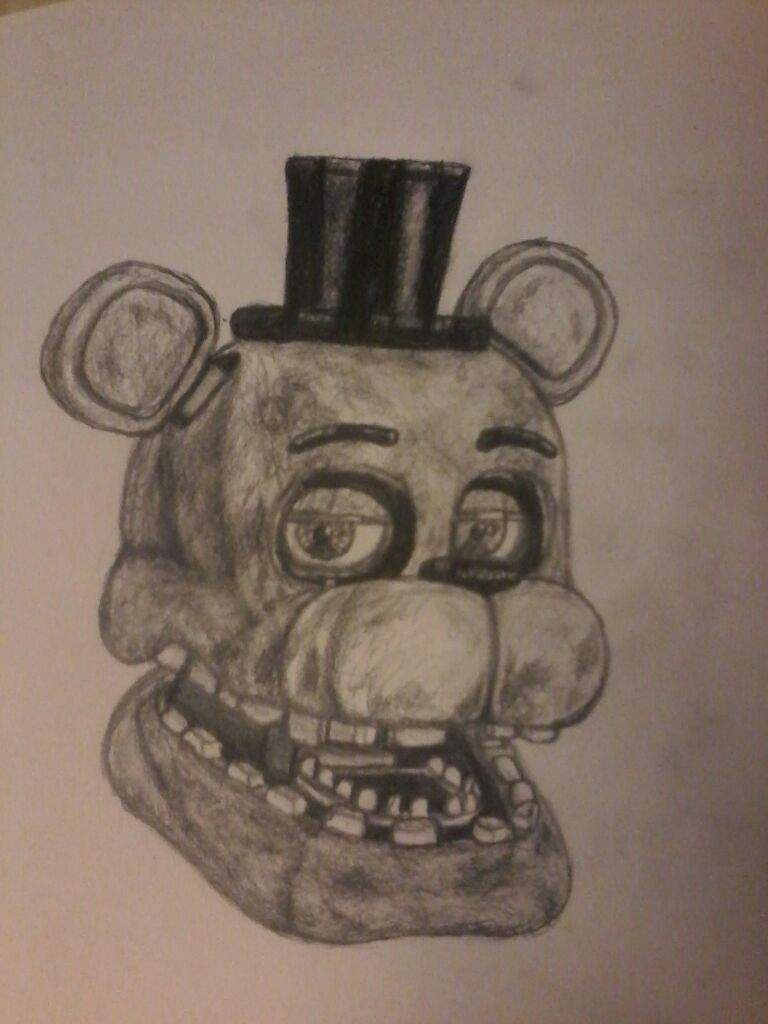 Withered Freddy (sketch drawing) | Five Nights At Freddy's Amino