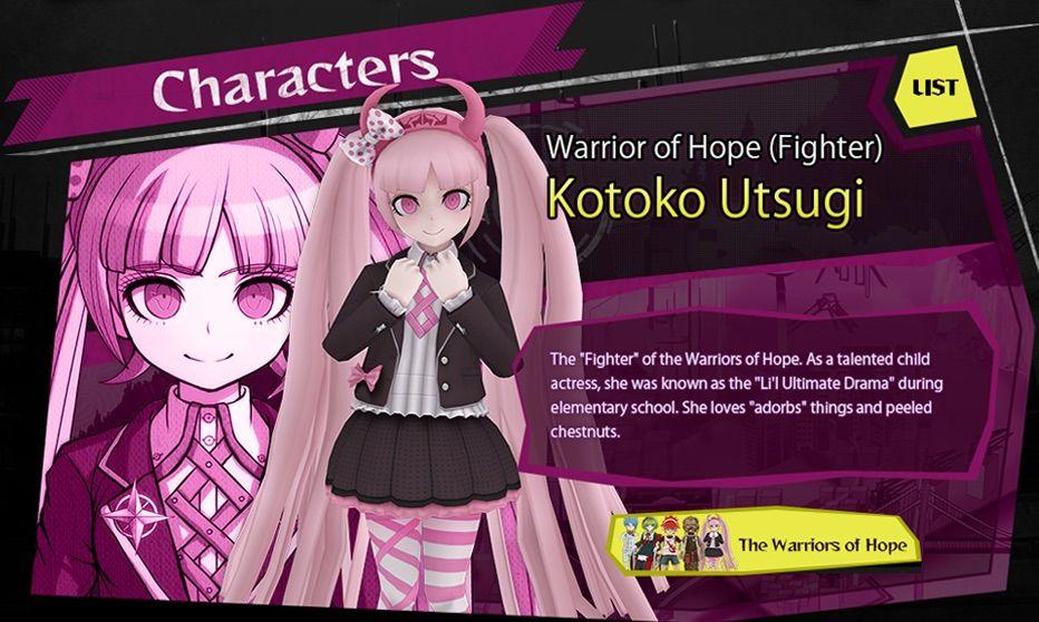 Kotoko Utsugi Character Analysis Danganronpa Amino