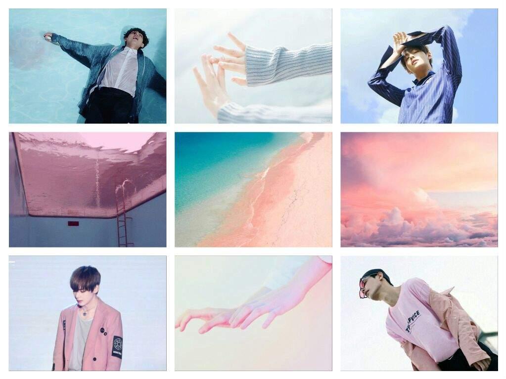 Bts Taehyung Aesthetic Desktop Wallpaper