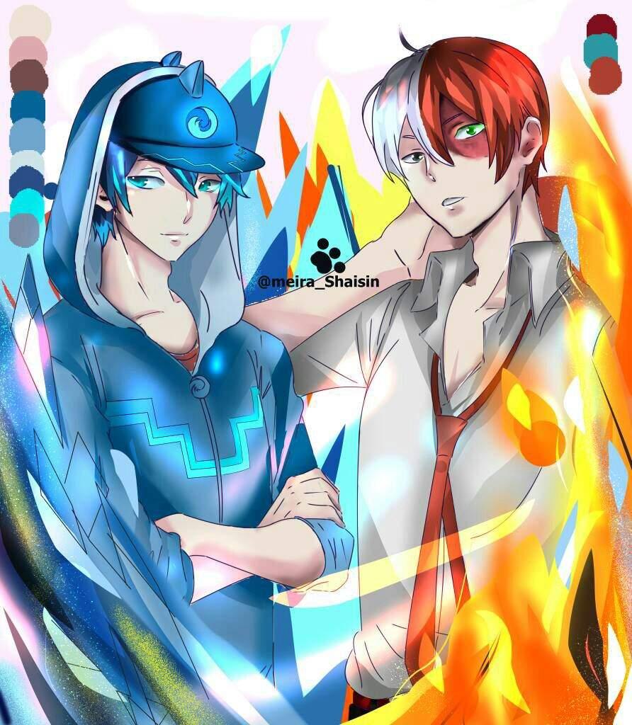 Todoroki And Boboiboy Ice My Hero Academia Amino