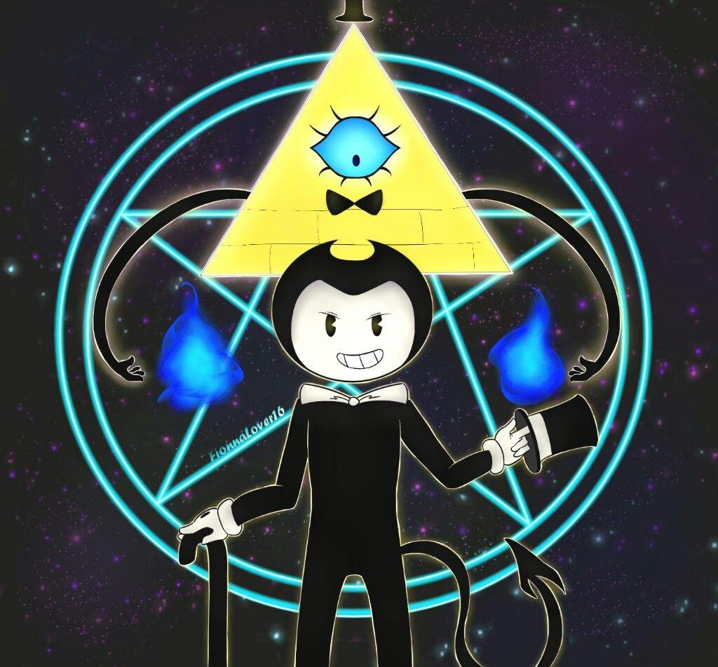 Bendy and Bill Cipher | Bendy and the Ink Machine Amino
