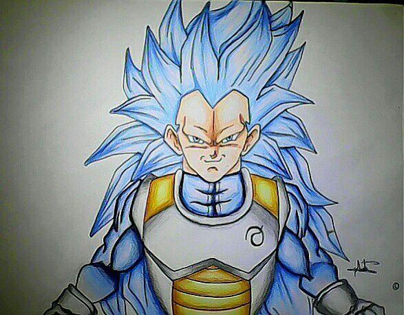 Fotos De Vegeta Color Azul: Nuevo Dibujo Y De Vegeta Ssj3 Dios Azul