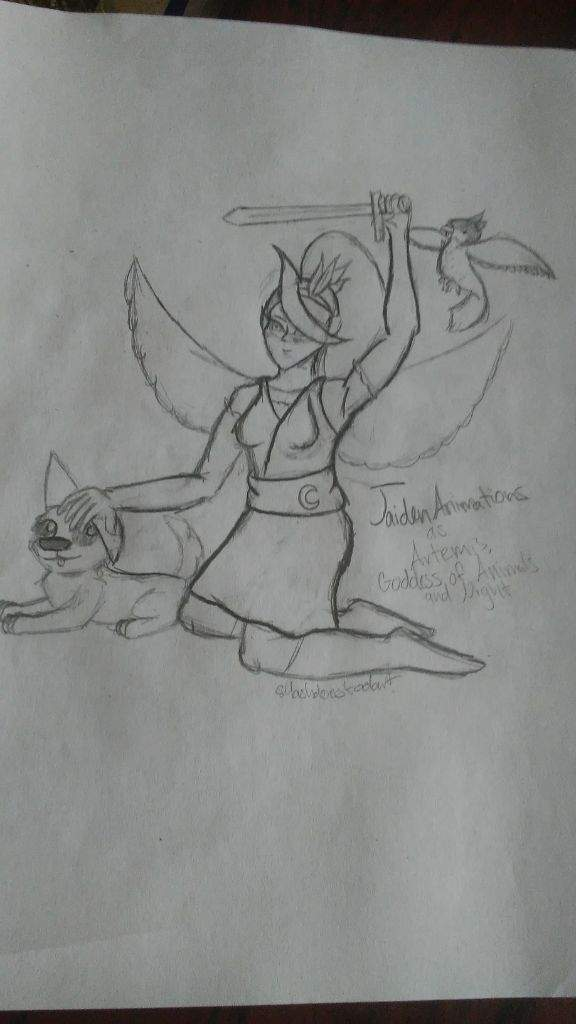 Jaidenanimations As Artemis Goddess Of The Night And