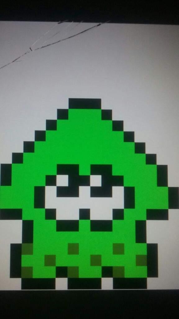 8 Bit Squid Pixel Art Splatoon Amino