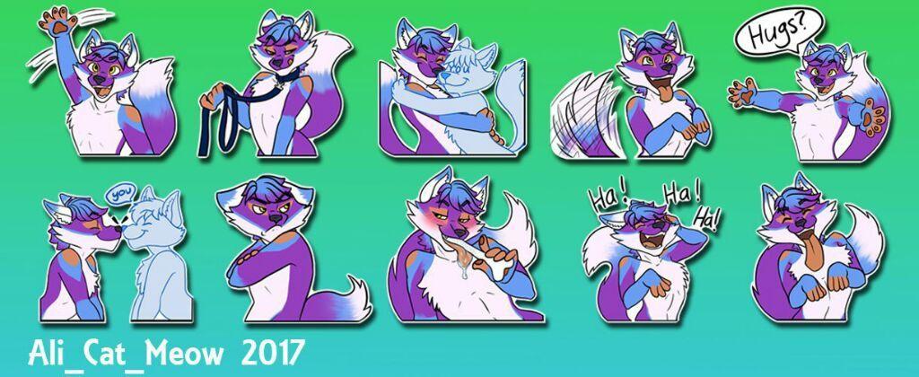 ScruffyFireFox Telegram Stickers [Commission] | Furry Amino