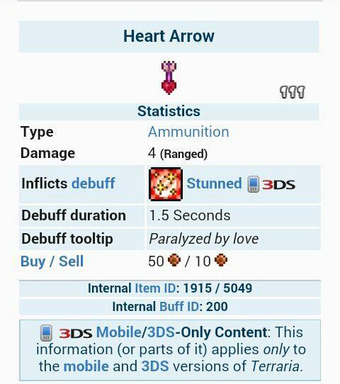 Akalis Tips Heart Arrow Terrarian Amino