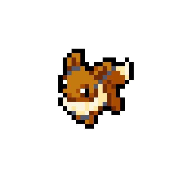 Rose Glen North Dakota Try These Pokemon Pixel Art Eevee