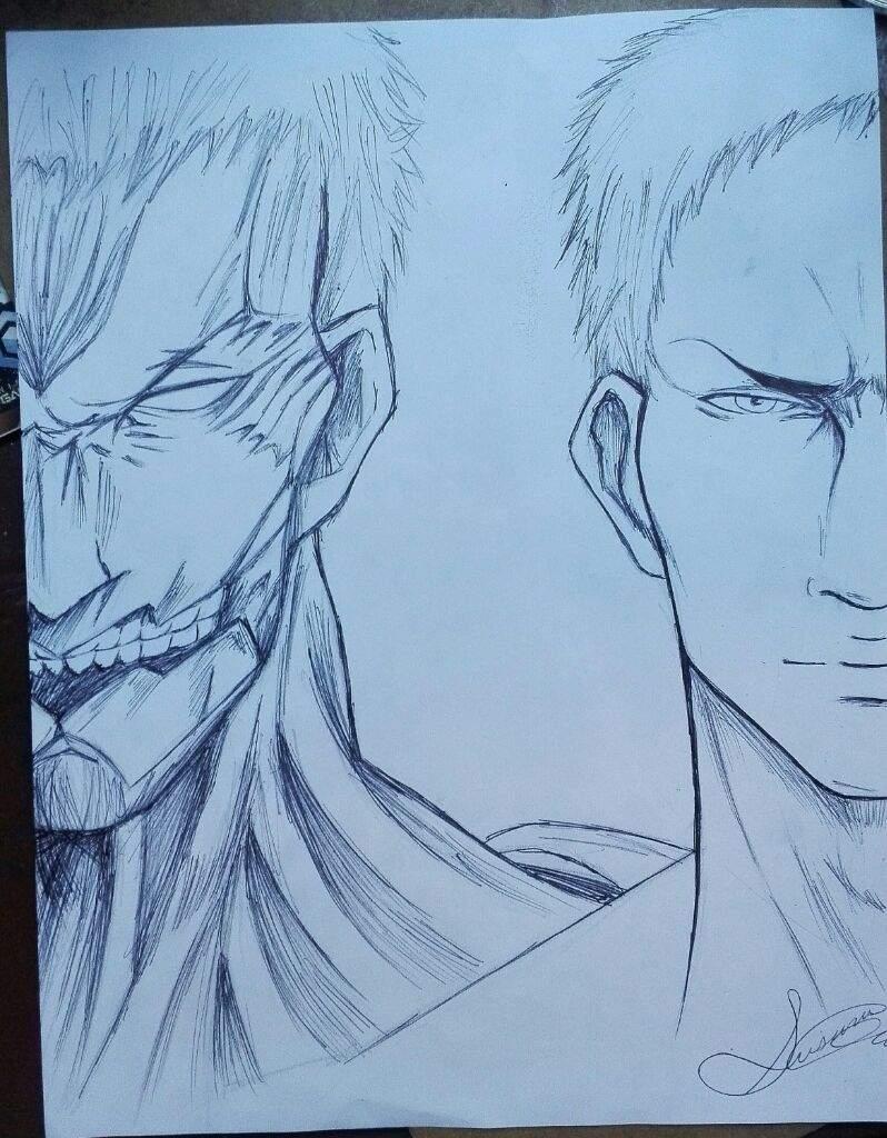 Reiner Dibujo Attack On Titan Amino