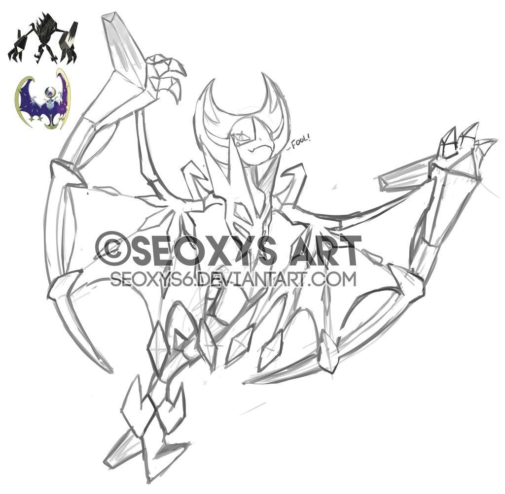 Pokefusions : Lunala +Necrozma [my Art]