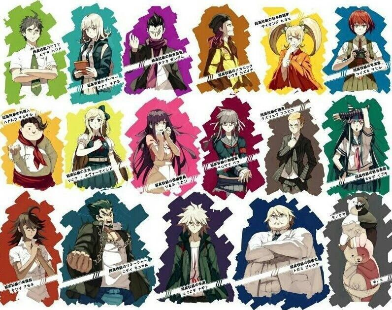 Super Danganronpa 2 Characters - fondo de pantalla tumblr