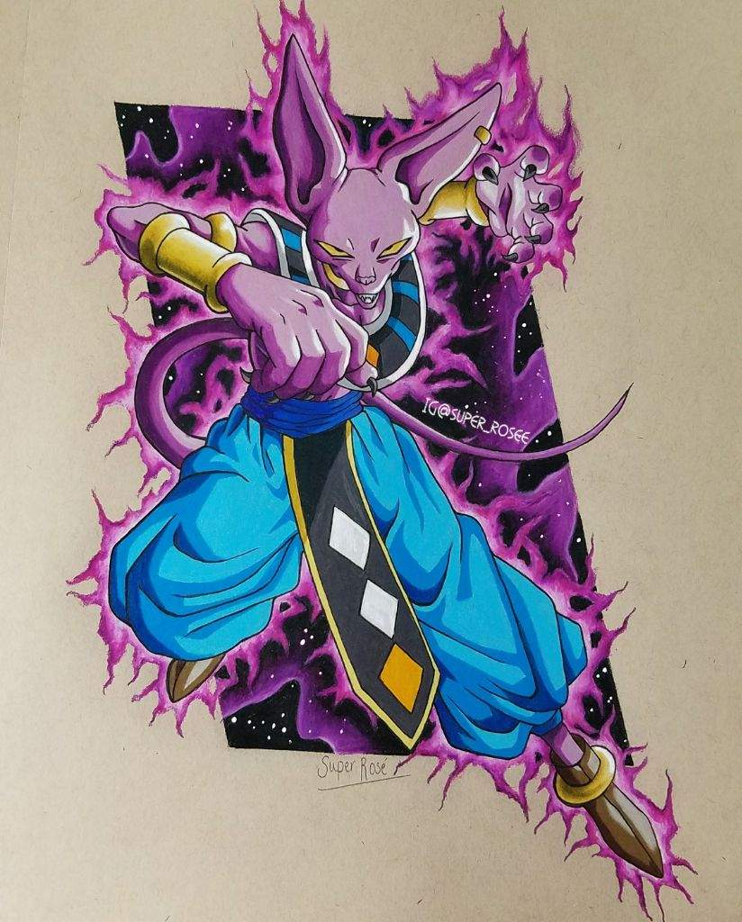Beerus The Destroyer Drawing Dragonballz Amino
