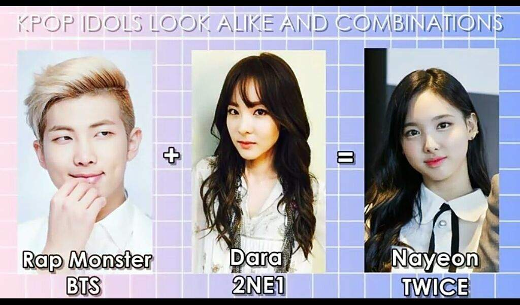 Kpop idol look alike and combination | 2NE1 Amino