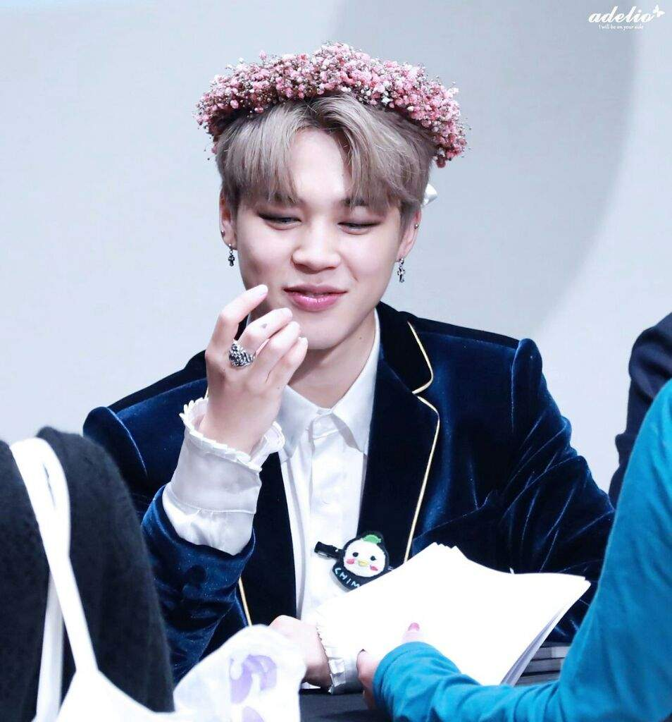 Jimin With Flower Crowns Park Jimin Amino