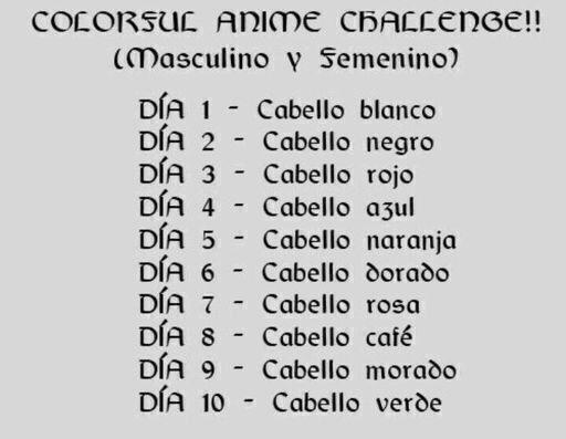 Color Anime Challenge | •Anime• Amino