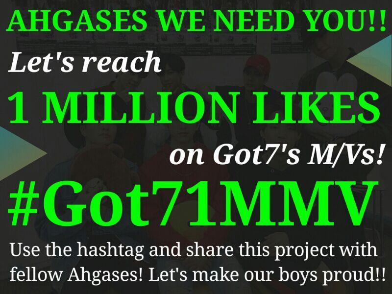 1 Million Likes on MVs' Project Update 0611 | GOT7 Amino