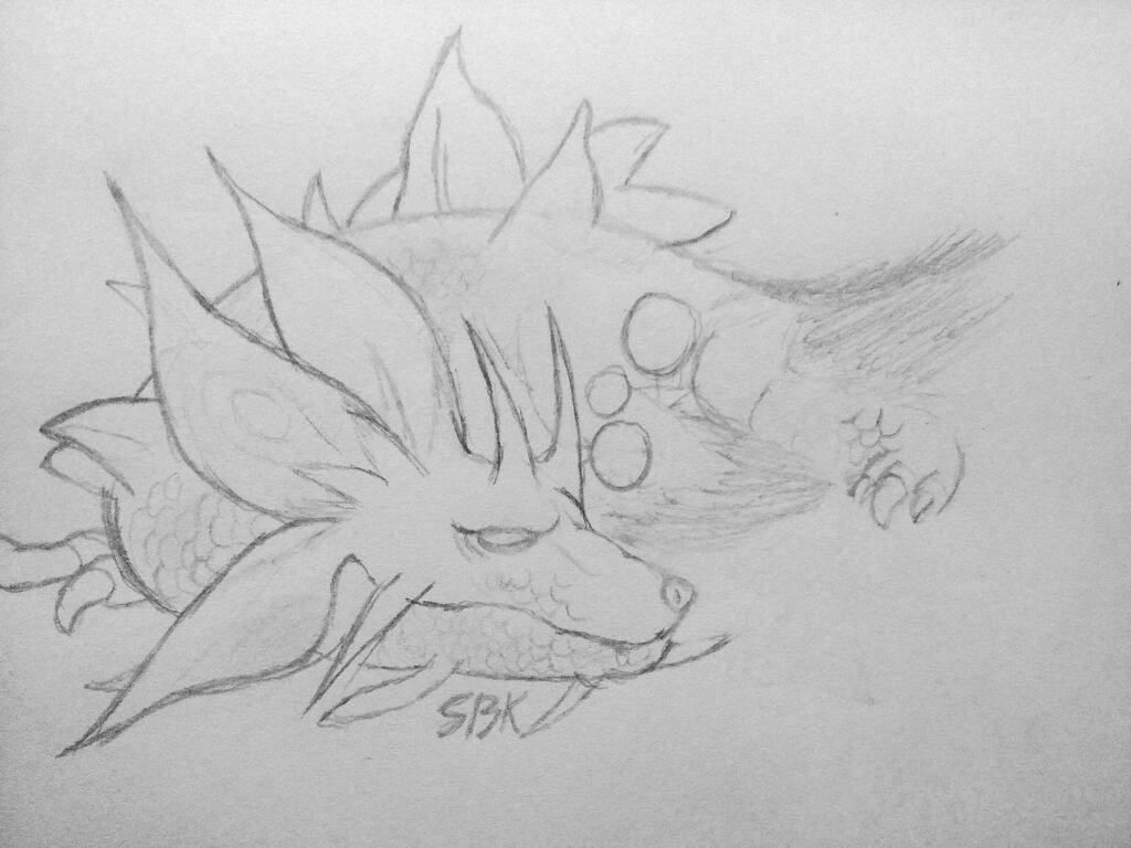 Line Drawing Monster : Mizutsune drawing monster hunter amino