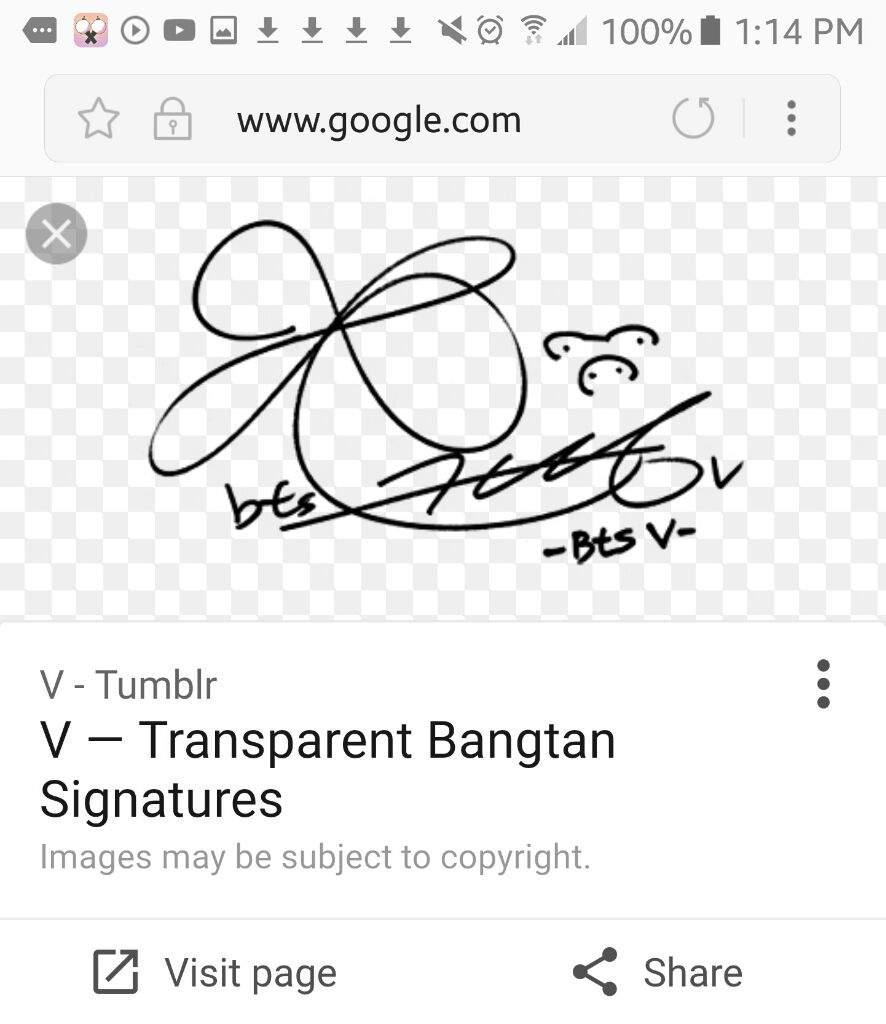 Tae Hyung Wallpaper Signature Textgram App Army S Amino