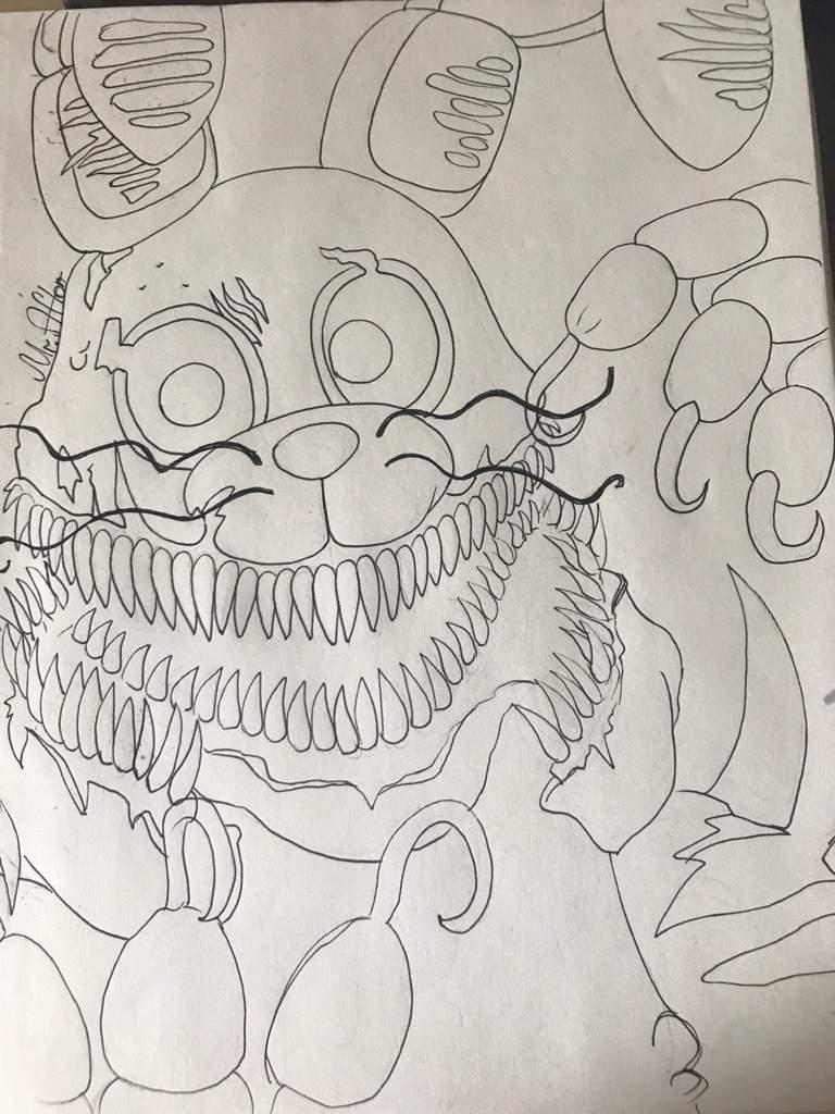 Картинки кошмарные аниматроники для срисовки