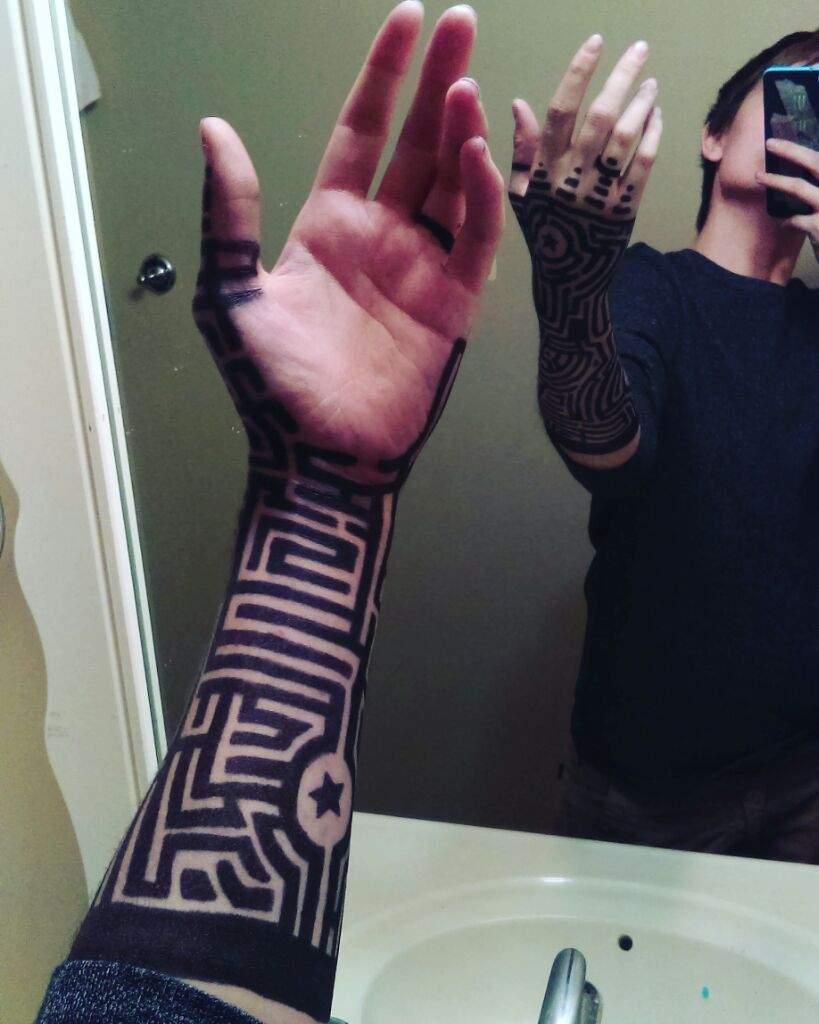 Doodles on arm