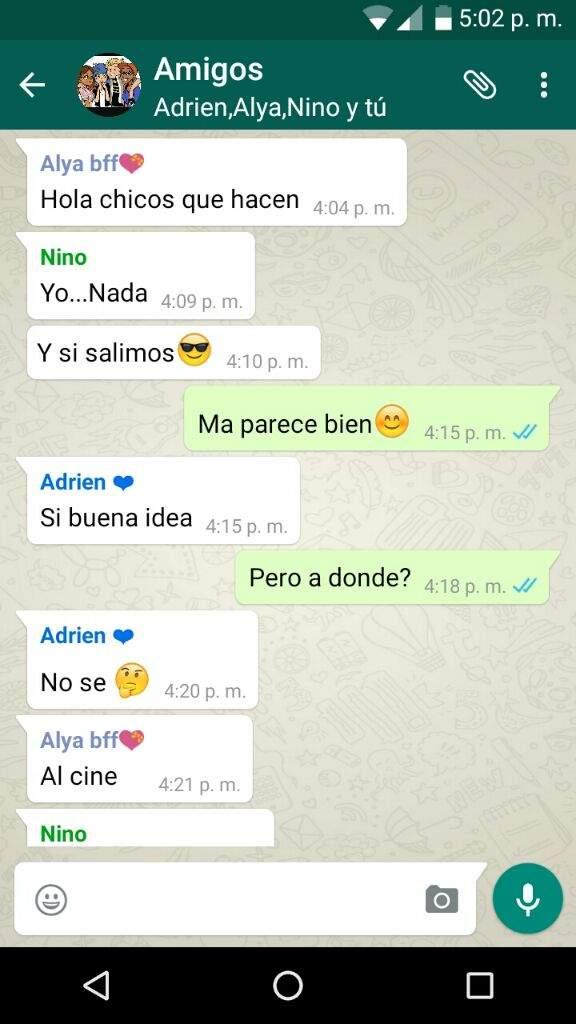 chat de amigos