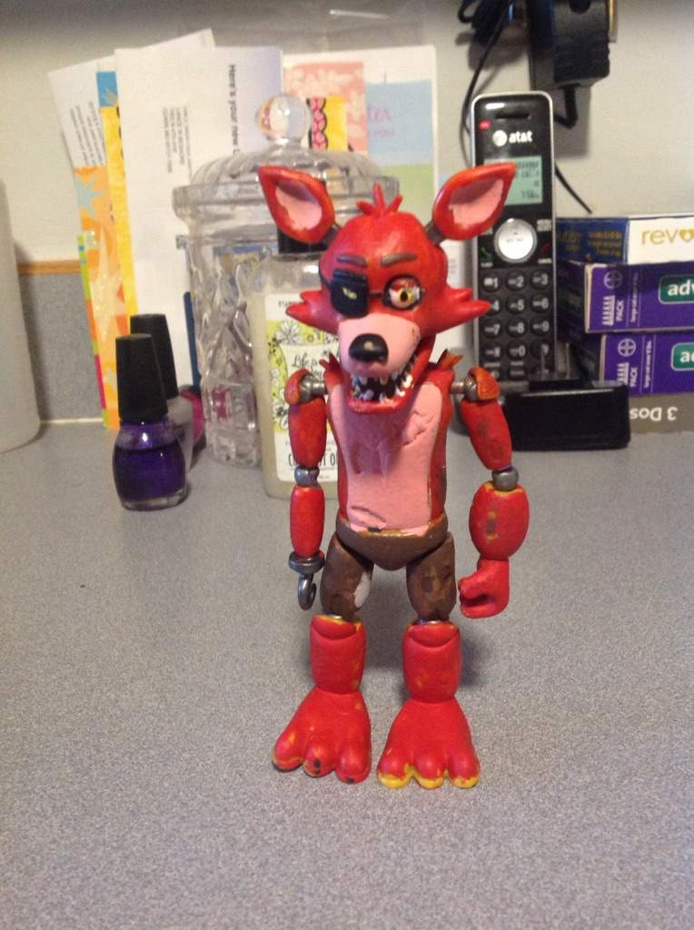 Custom action figures part 3/unwithered foxy | Five Nights