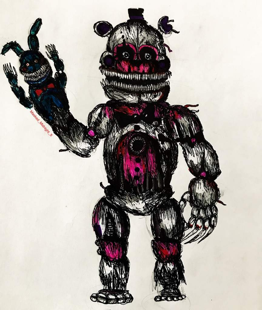 Five Nights At Freddy S Amino: Nightmare Funtime Freddy Drawing
