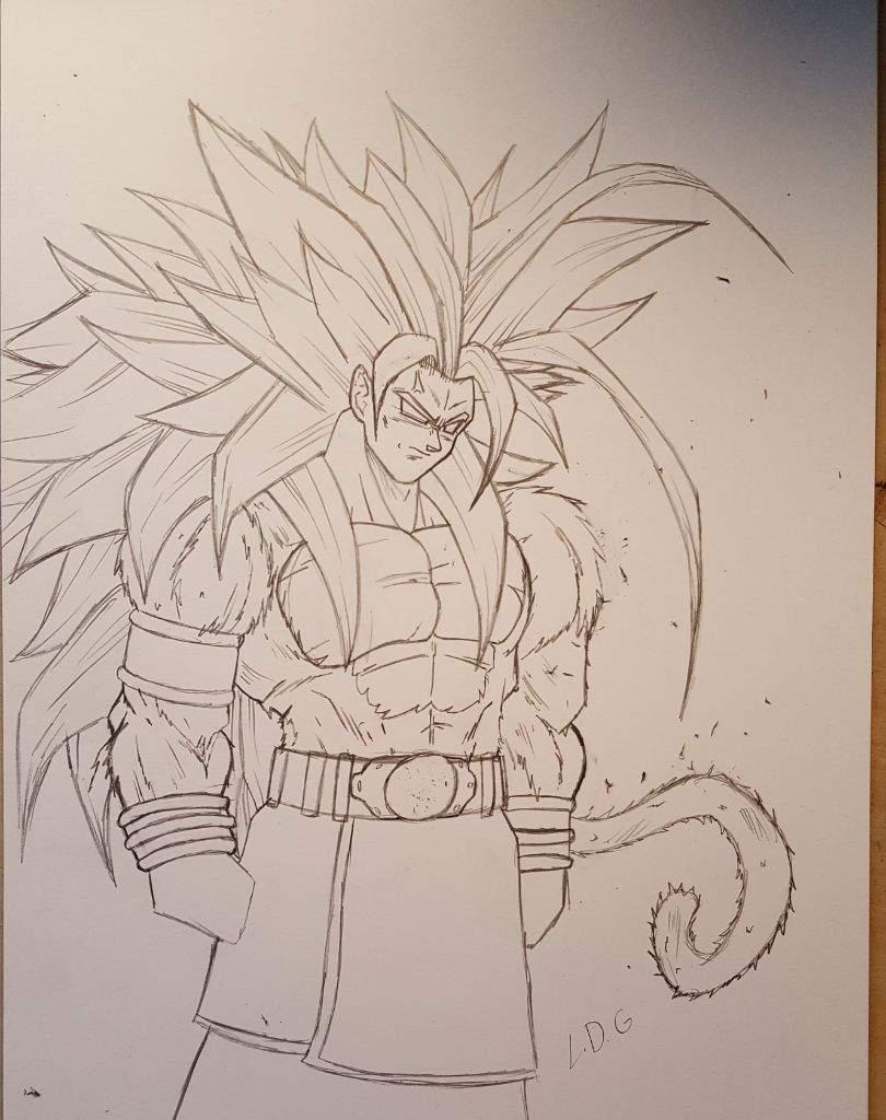 Wip Super Saiyan 5 Goku Drawing Dragonballz Amino