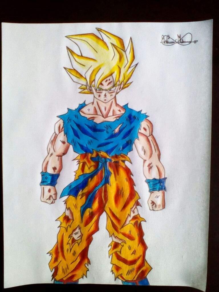 Drawing Goku SSJ In Namek | DragonBallZ Amino