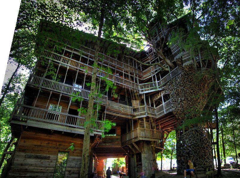 #12 Das Offiziell Größte Baumhaus Der Welt In Crossville, Tennessee