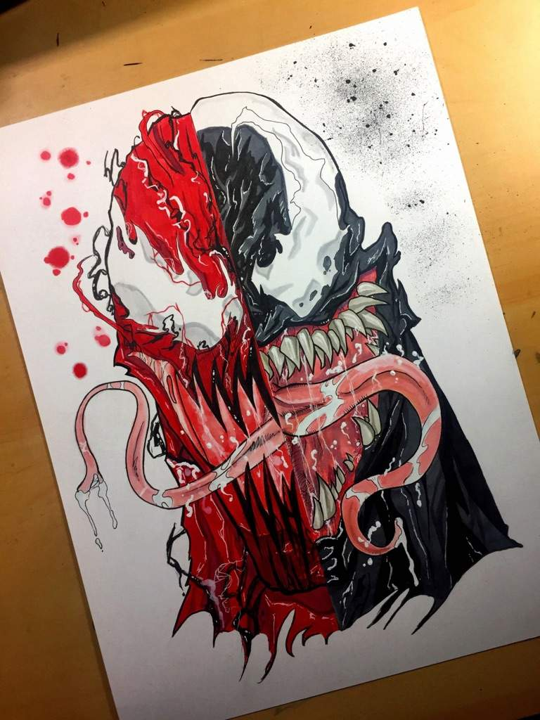 Venom Carnage Head Sketch Comics Amino