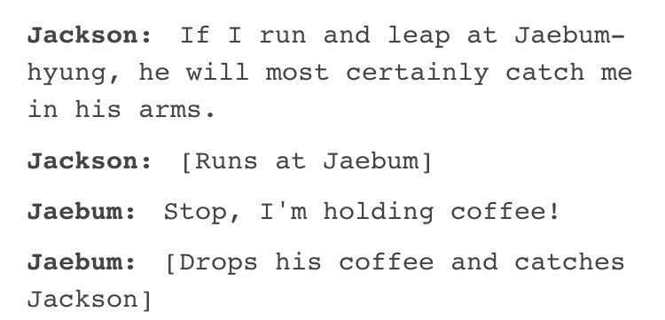 Jaebum Scenario