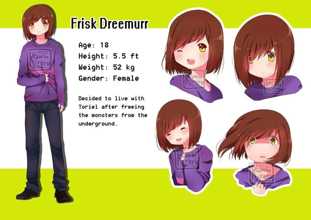 Frisk Dreemurr - Character sheet - Yandere route   Undertale Amino