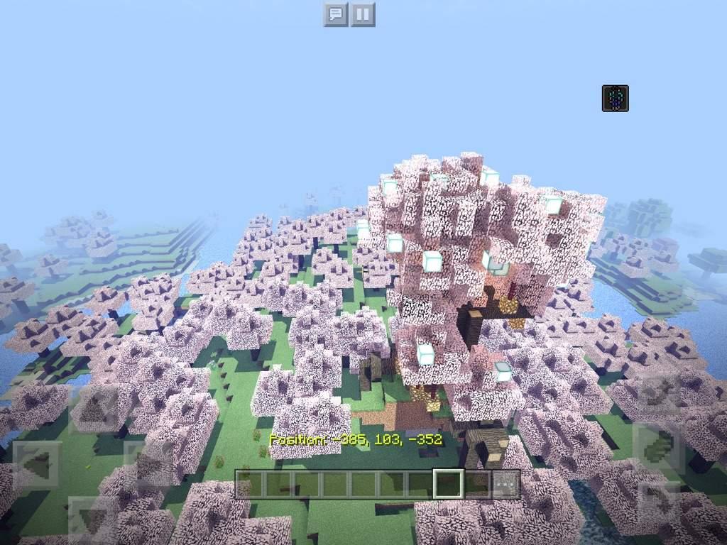 Pink Tree Bulid Challanges Minecraft Amino