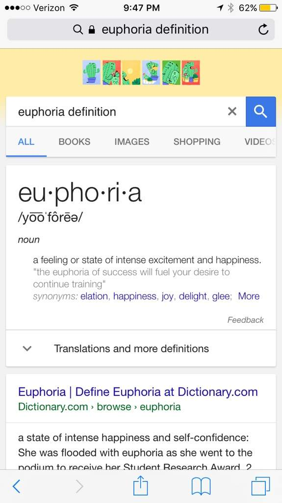 The Voice In The Calling Also Randomly Says The Word Euphoria Several Times  Throughout The Song. Anyways, The Word Is A Noun That Is A Fancy Way Of  Saying A ...