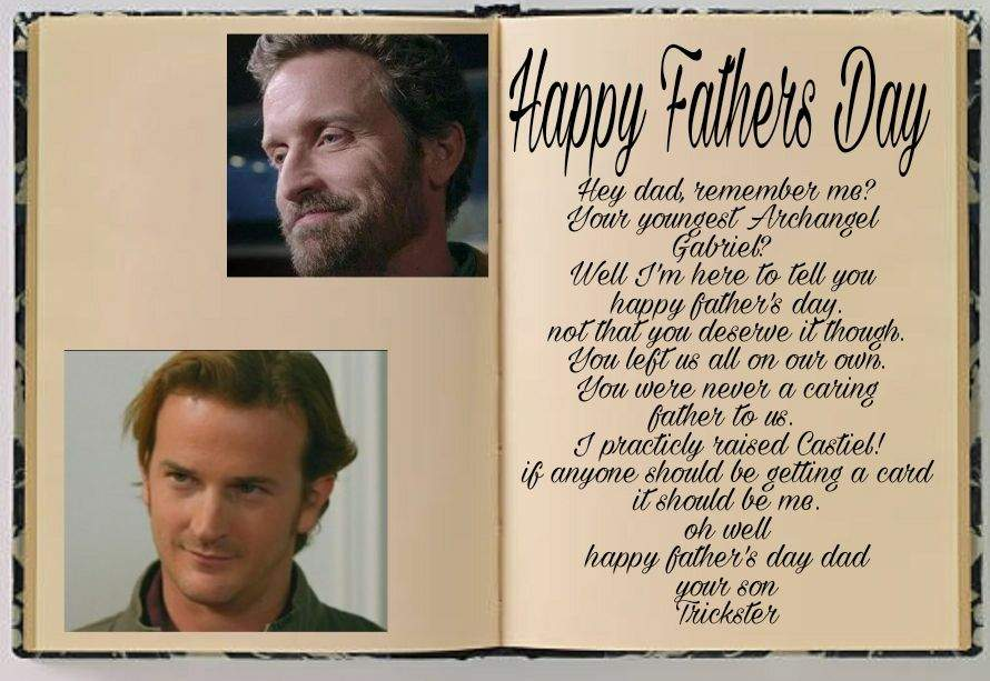 Happy Fathers Day Chuck! | Supernatural Fanart And Fanfic Amino