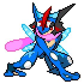 Ash Greninja Pixel Art Pok 233 Mon Amino