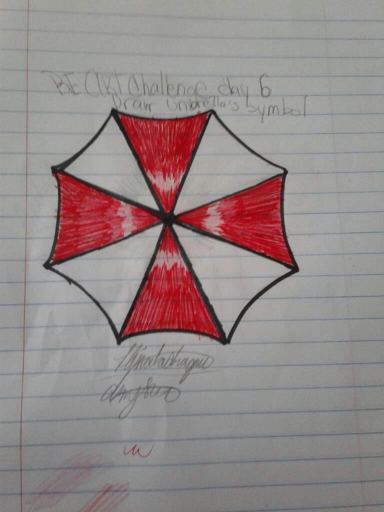 Resident Evil Art Challenge Day 6 Draw Umbrellas Symbol