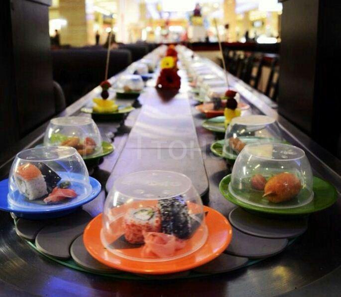 Японский ресторан в москве с конвейером фото или видео элеватора